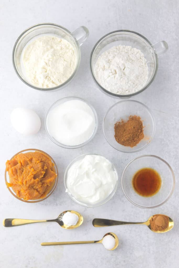 easy pumpkin protein muffins ingredients