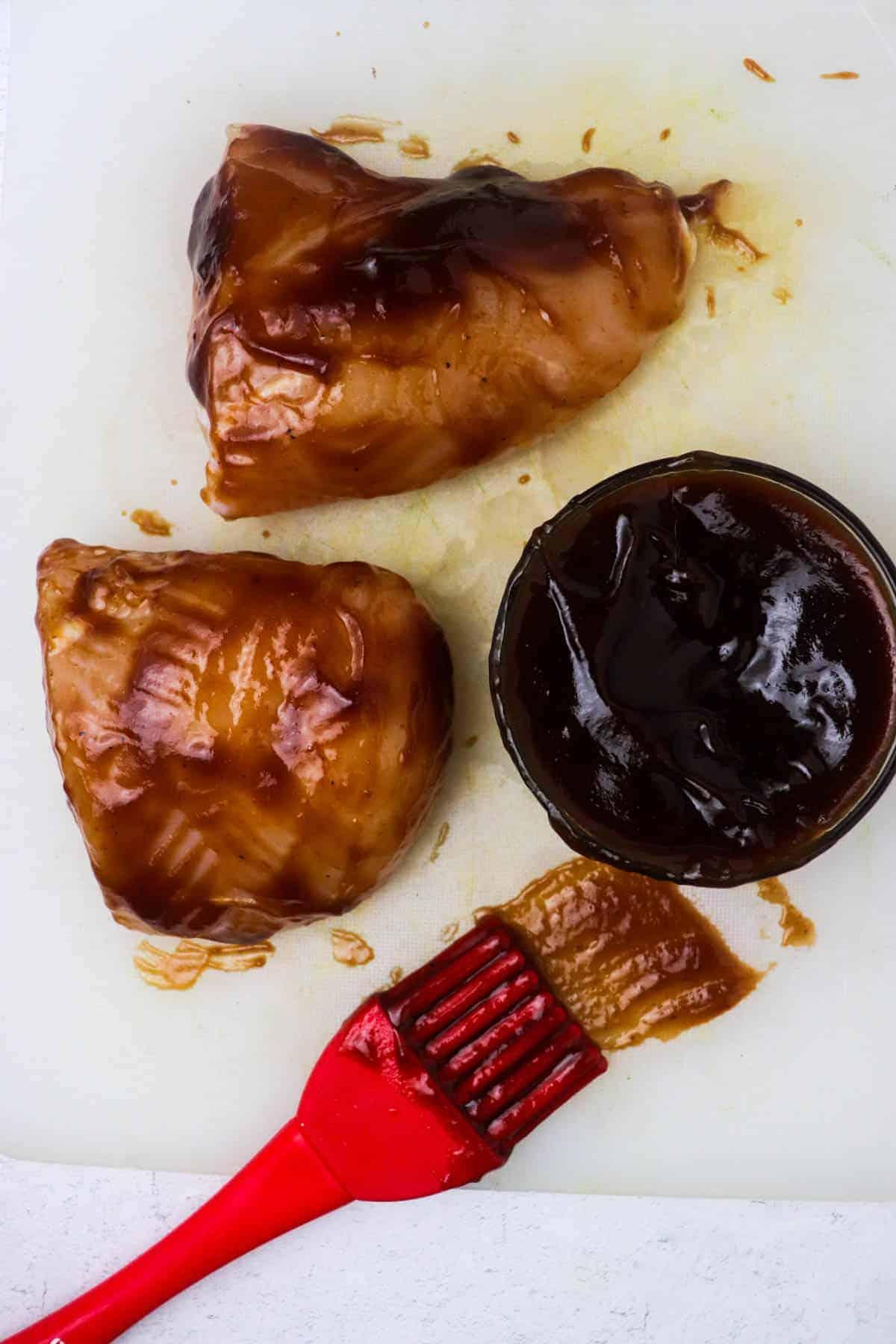 BBQ Sauce on air fryer bbq chicken