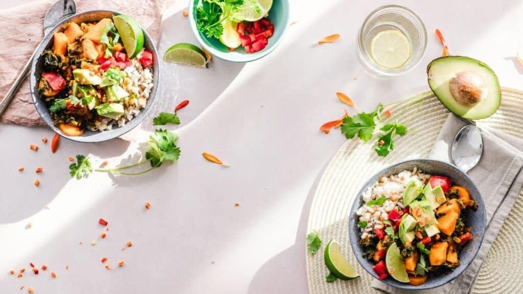 a variety of prepared WFPB diet foods