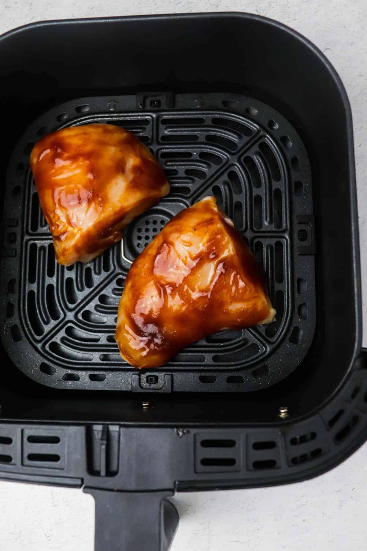 air fryer bbq chicken in air fryer uncooked