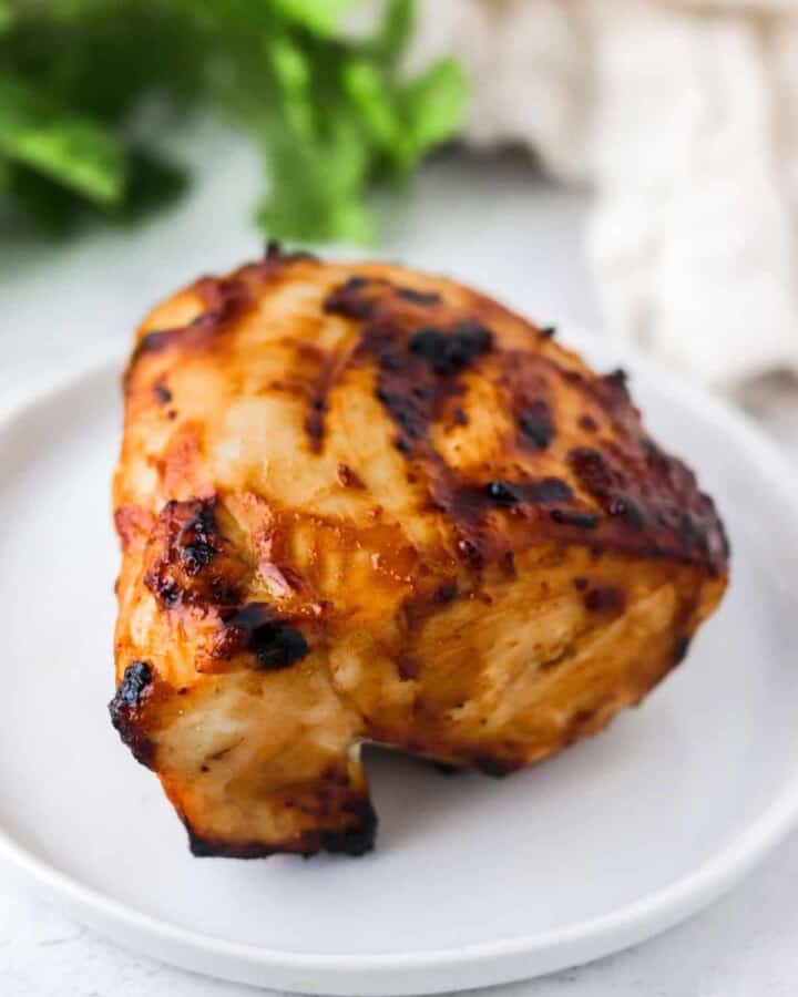 air fryer bbq chicken on plate
