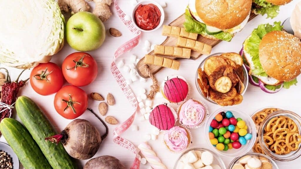 healthy and unhealthy foods for flexible dieting