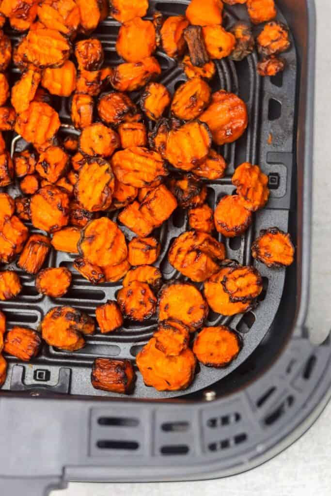 cooked air fryer carrots
