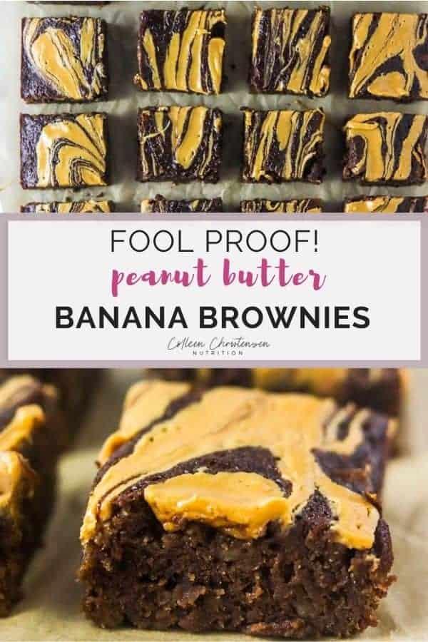 fool proof peanut butter banana brownies
