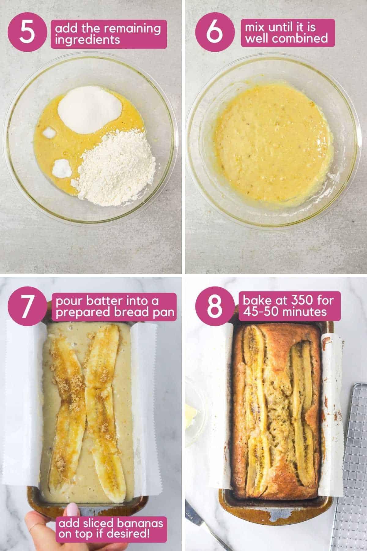 how to make dairy free banana bread.
