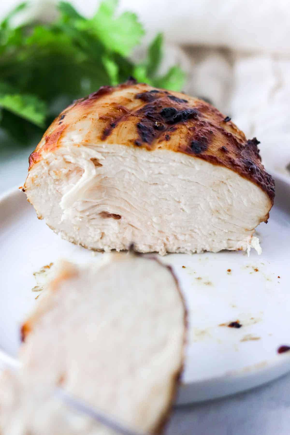 juicy cut air fryer bbq chicken