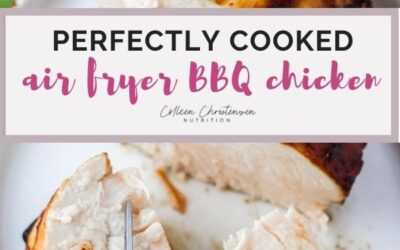 perfectly cooked air fryer bbq chicken