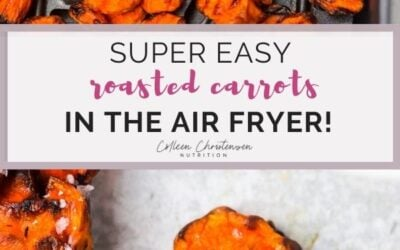 perfectly roasted air fryer carrots