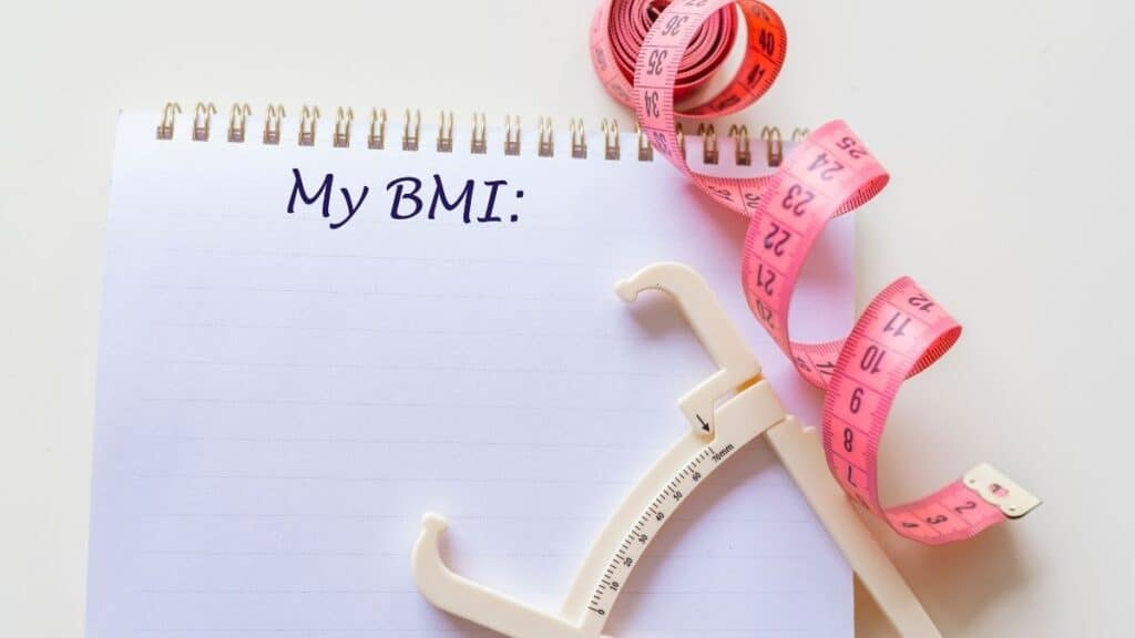 BMI weight loss measuring tape