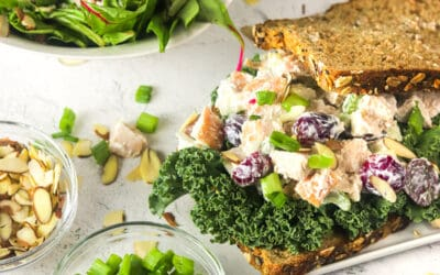 turkey salad with grapes sandwich