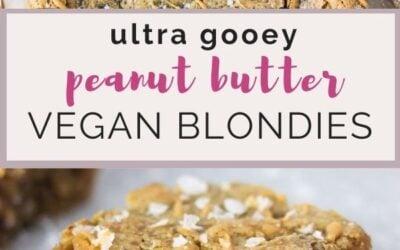 ultra gooey peanut butter vegan blondies