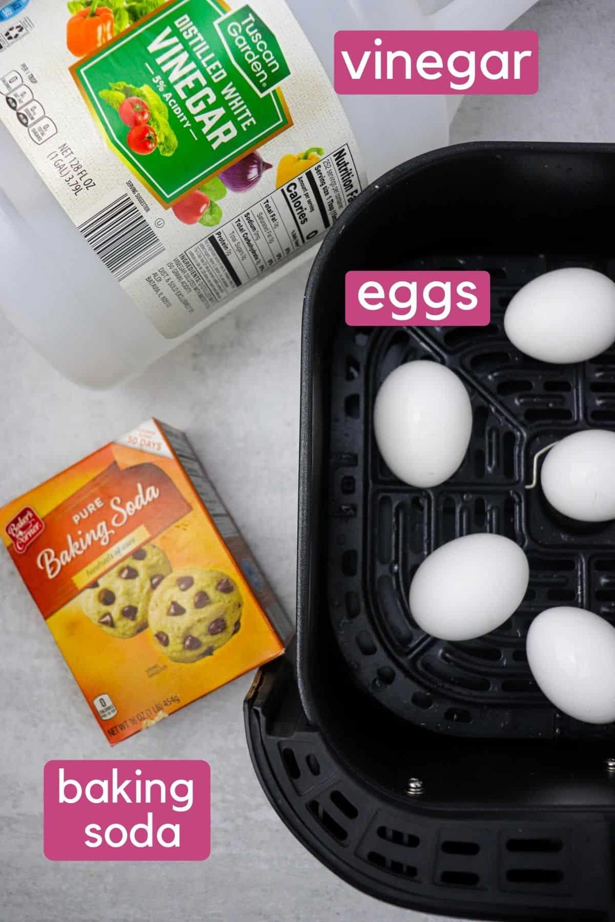 Air Fryer Boiled Eggs Ingredients.