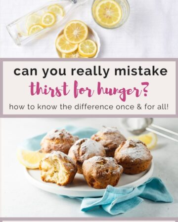 can you REALLY mistake thirst for hunger?