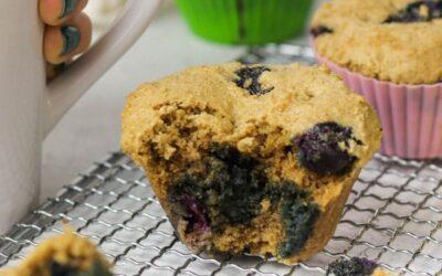 gluten free blueberry muffins.