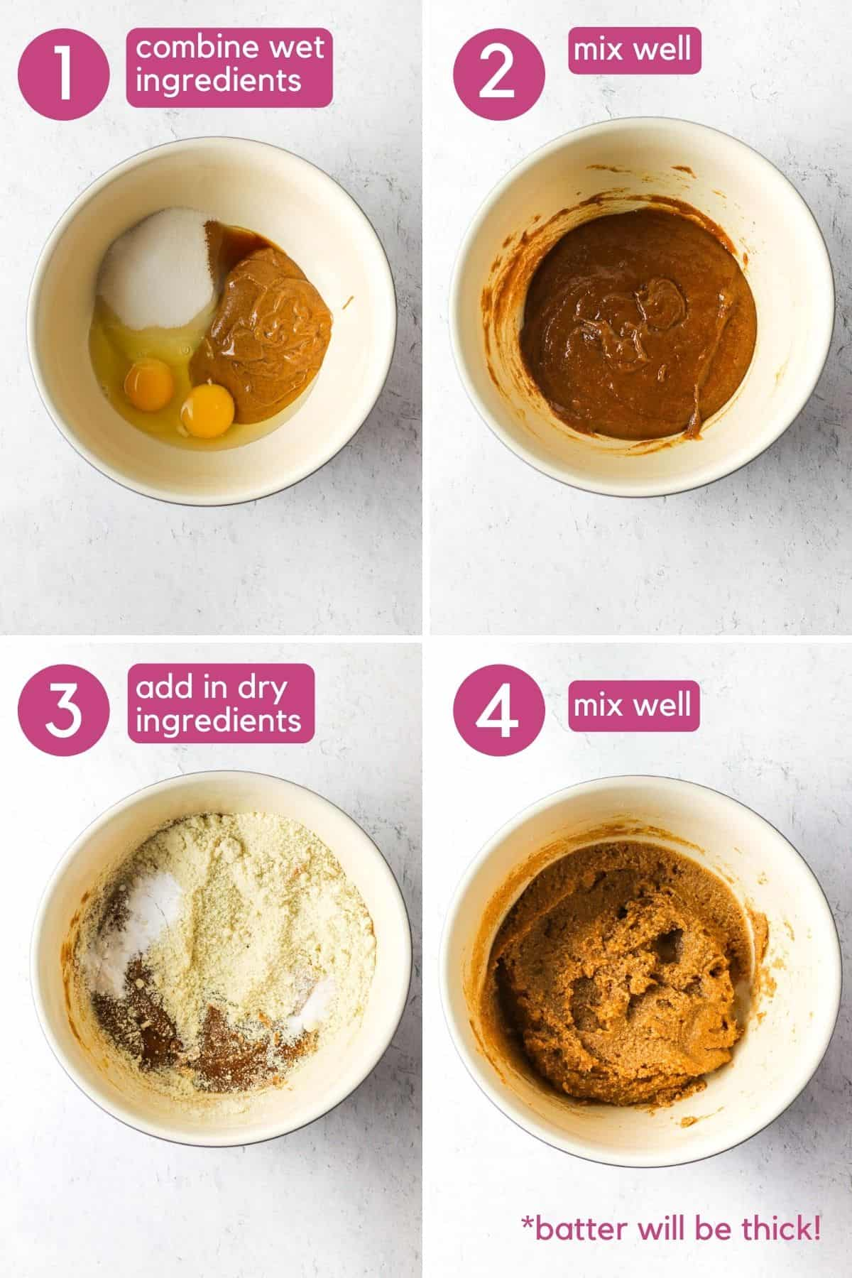 how to make dairy & gluten free blueberry muffin batter.