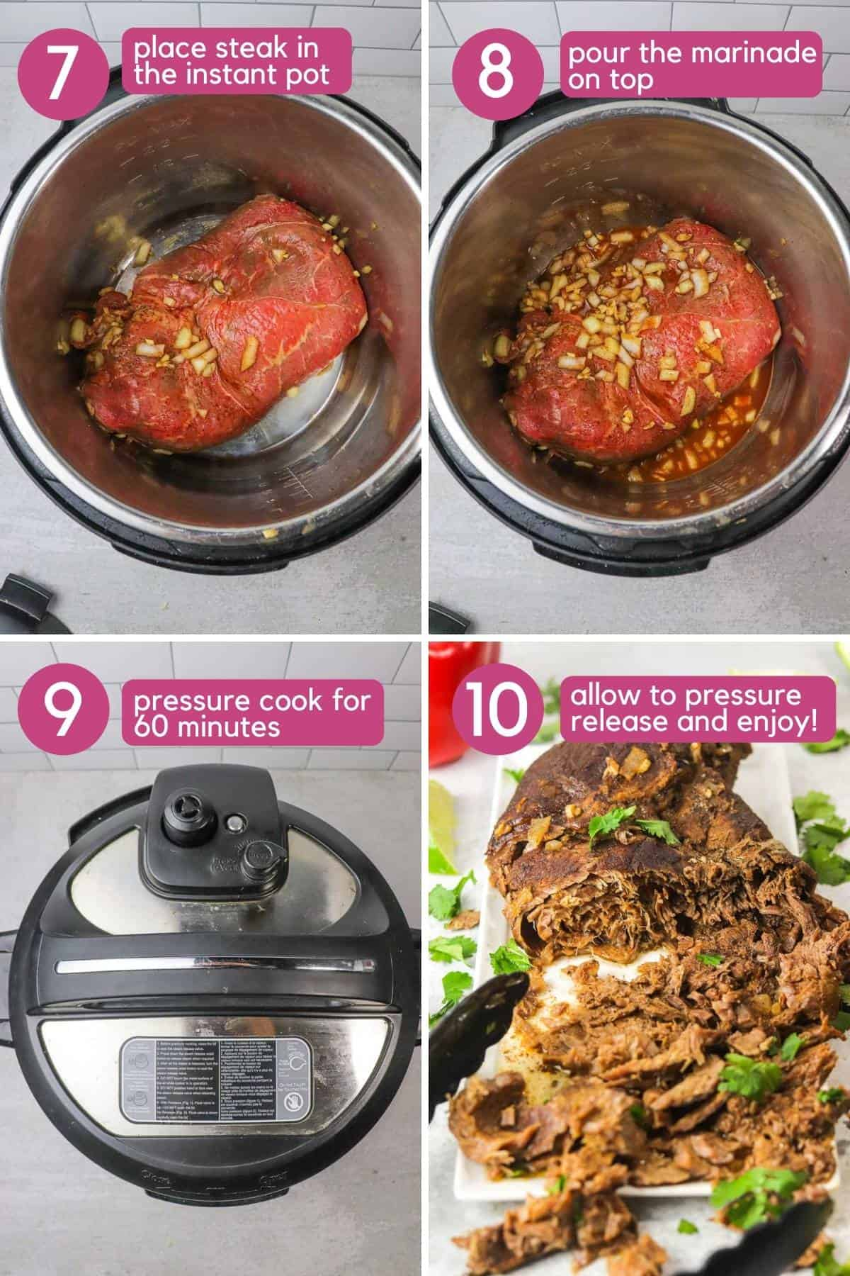 how to cook carne asada in the instant pot.