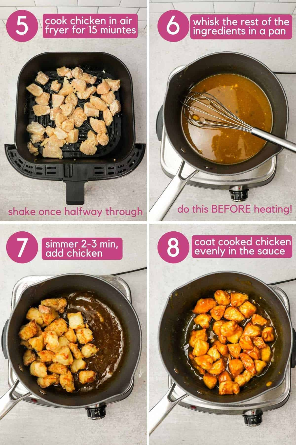 How to make the sauce for air fryer orange chicken