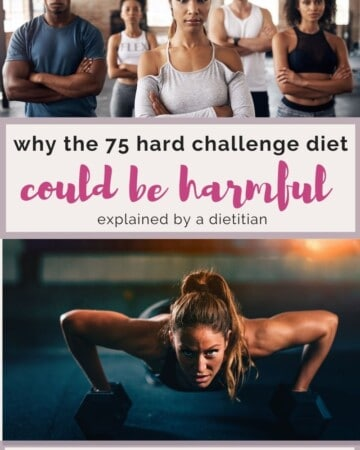 Why The 75 Day Hard Challenge Diet Is Harmful