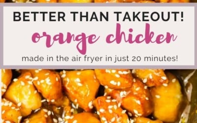 better than takeout orange chicken in 20 minutes.