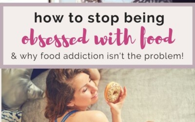 how to stop being obsessed with food.
