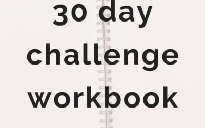 Free 30 day challenge workbook