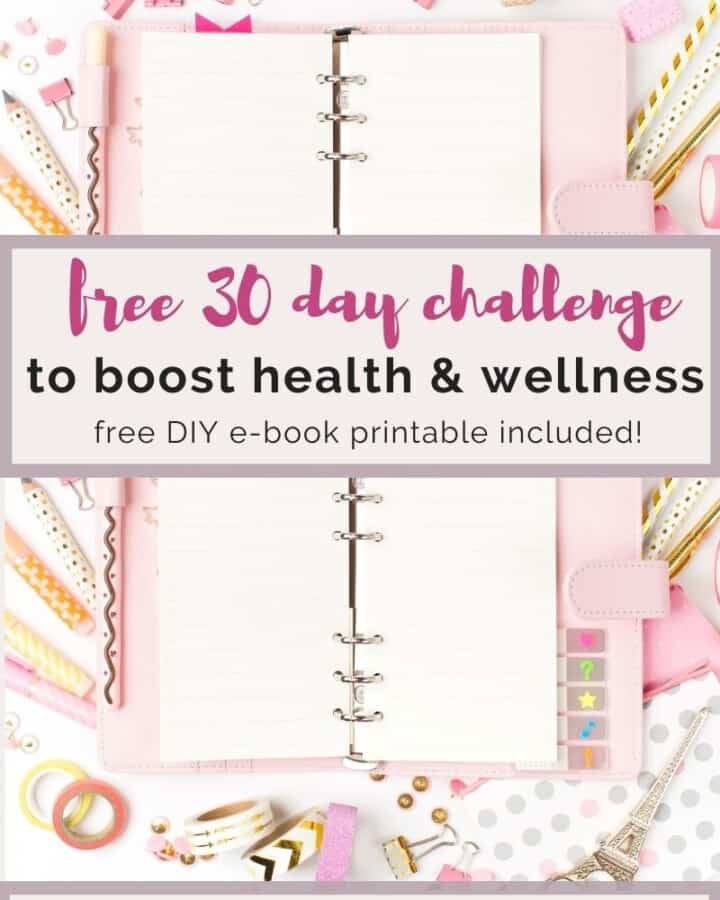 free 30 day challenge to boost health & wellness
