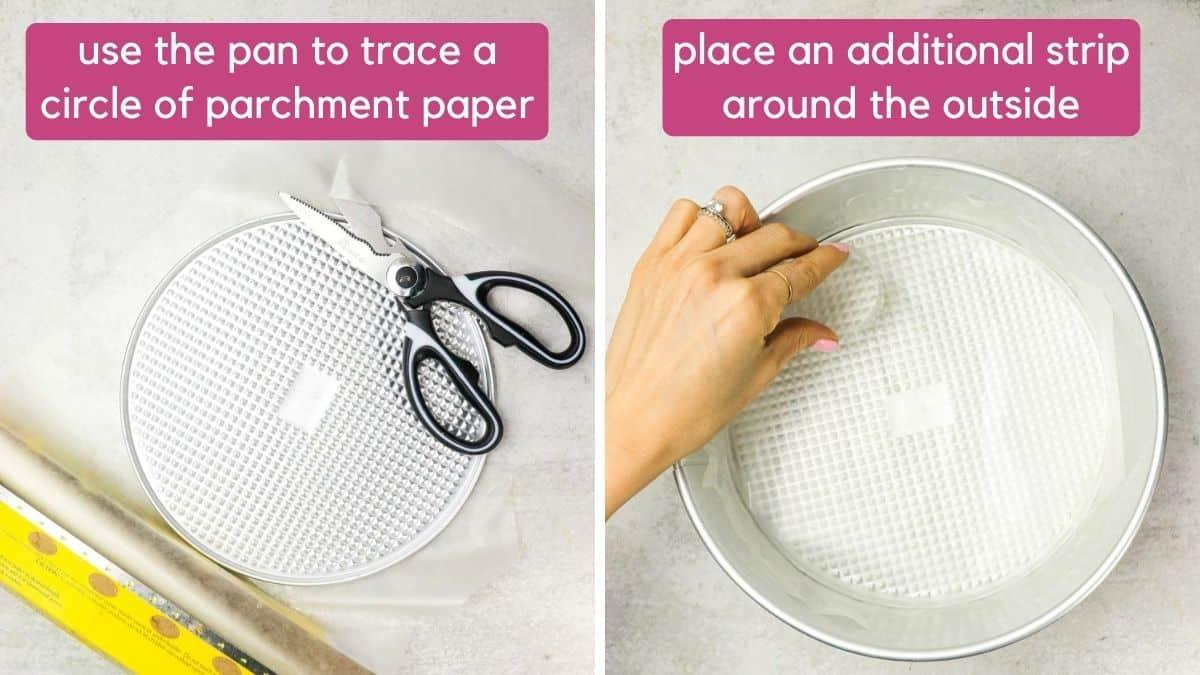how to line a springform pan