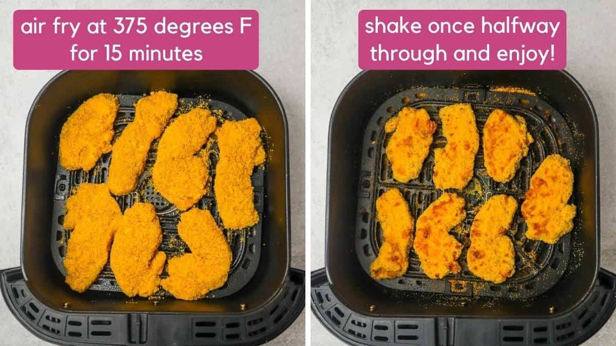 how to make Cheez it chicken tender in the air fryer