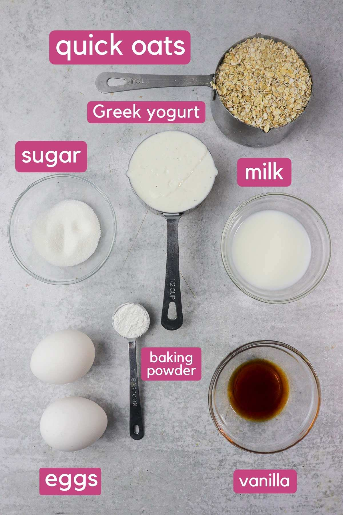 ingredients for protein pancakes without protein powder or banana