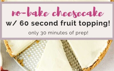 no-bake cheesecake with fruit topping