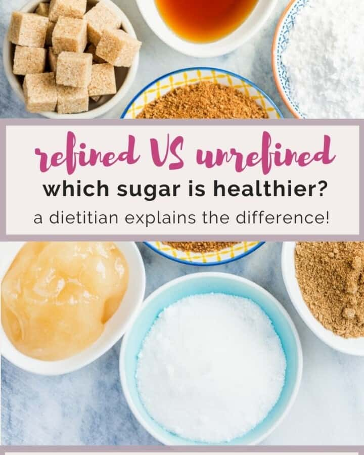refined VS unrefined sugar, which is healthier?