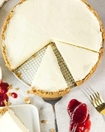 whole eggless cheesecake
