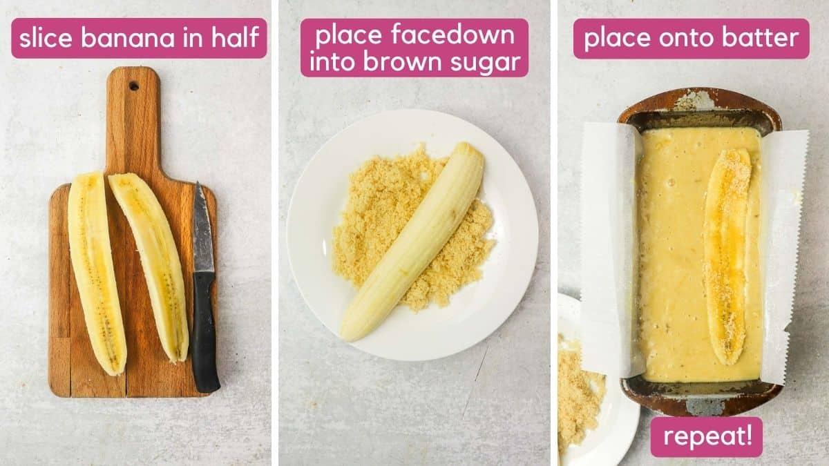 how to add a banana to dairy free banana bread