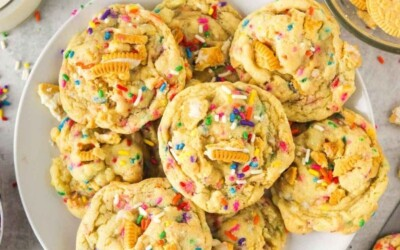 Birthday cake cookies made from scratch