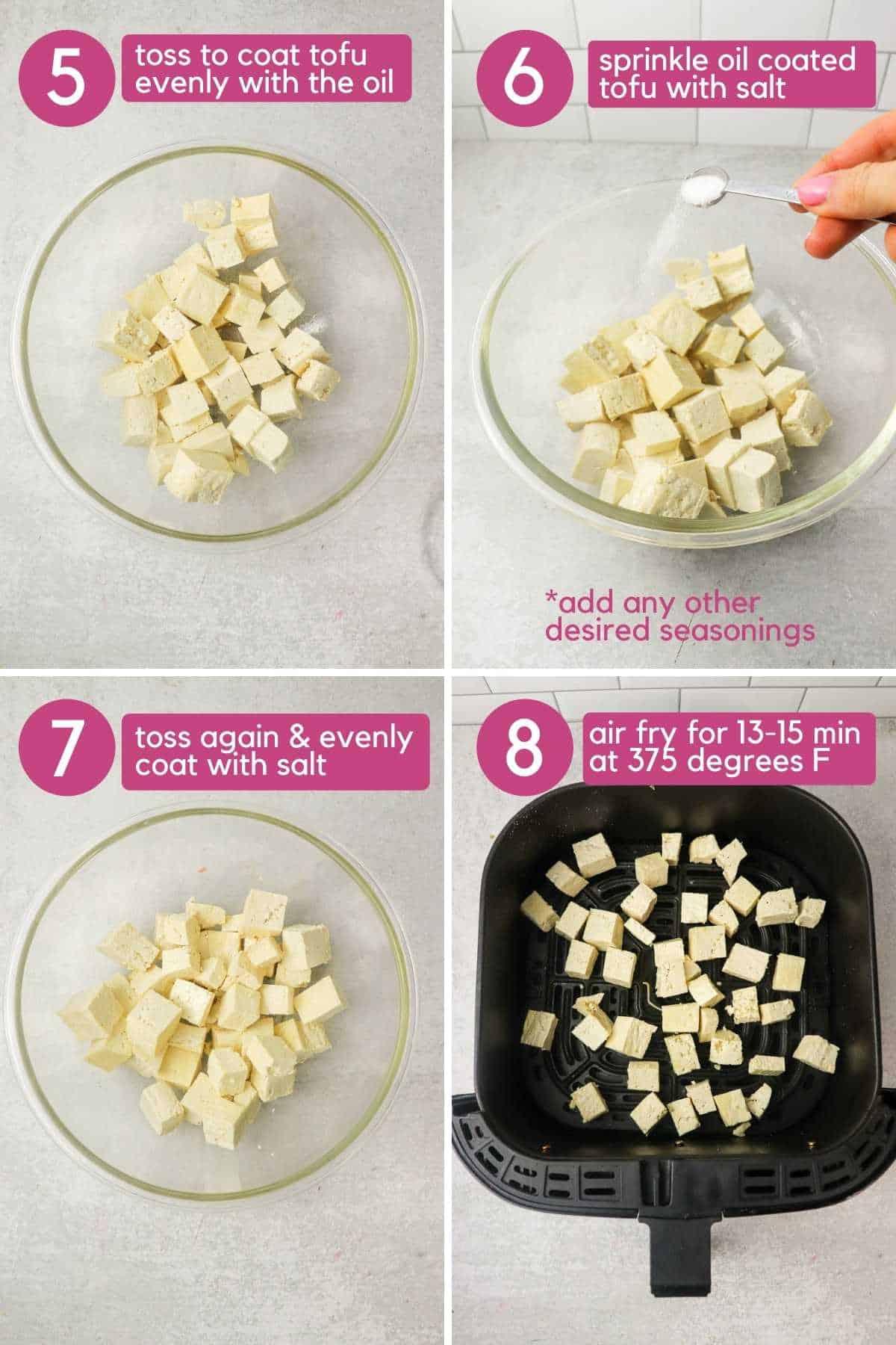 How to season air fryer tofu