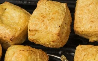crispy tofu made in the air fryer.
