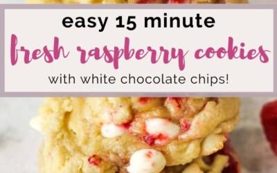 easy 15 minute fresh raspberry cookies.