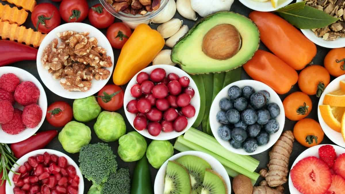 A Variety of foods to lower cortisol.