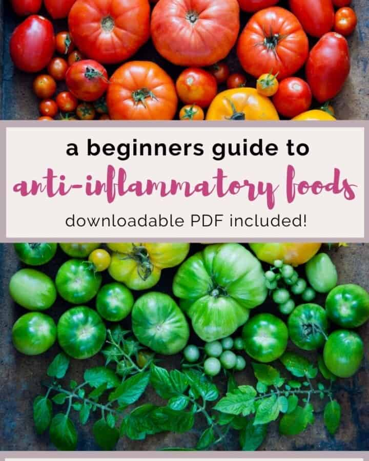A beginners guide to anti-inflammatory foods.