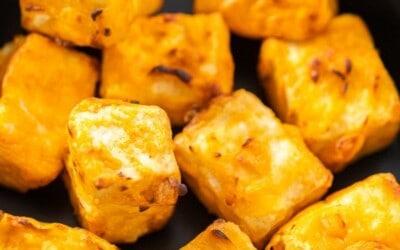 Air fryer or oven crispy buffalo tofu.