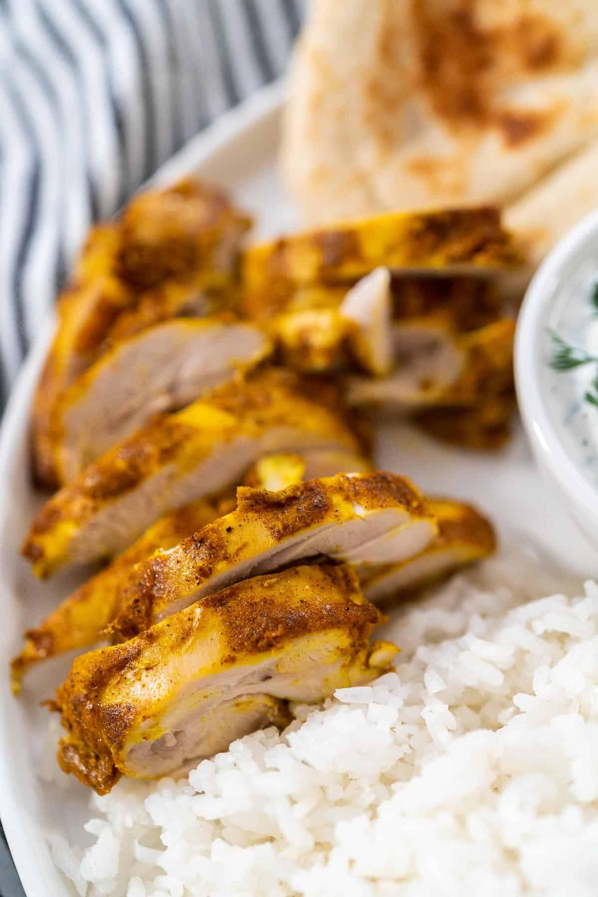 Chicken Shawarma Plate Chicken Thighs.