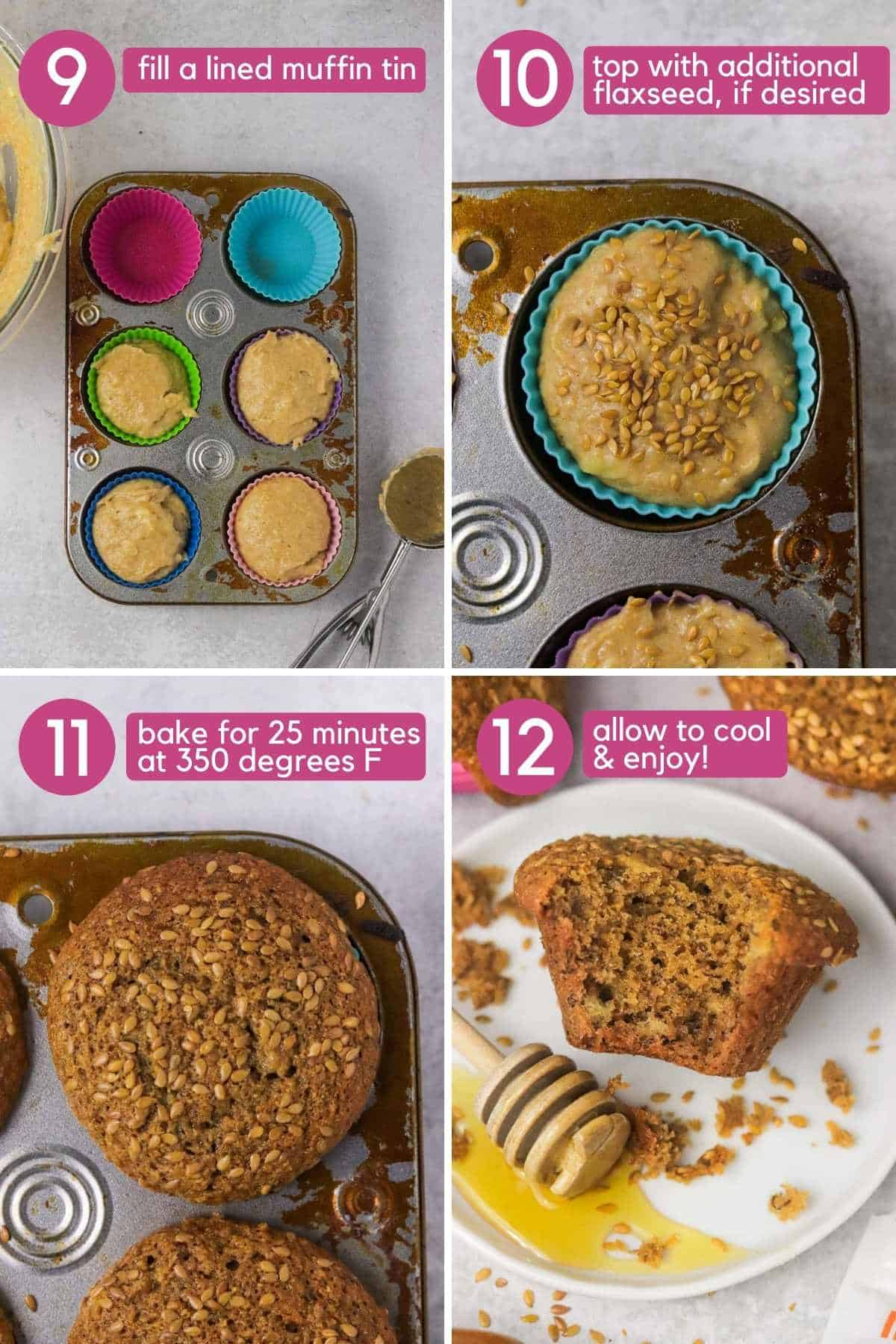 How to bake Honey flaxseed muffins..