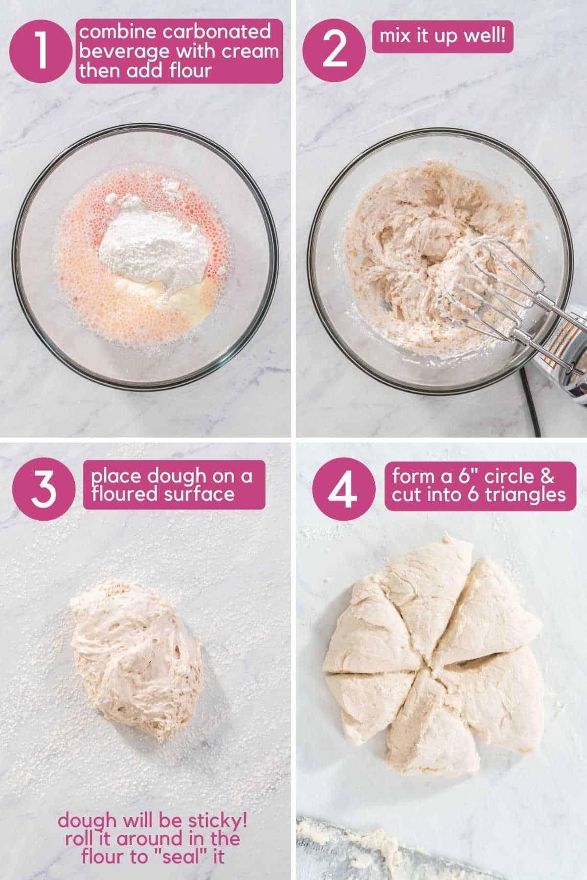 How to prepare easy 3 ingredient scones.