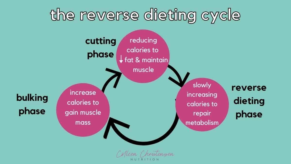 Reverse Dieting Cycle diagram.