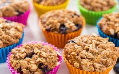 blueberry & banana oatmeal muffins.