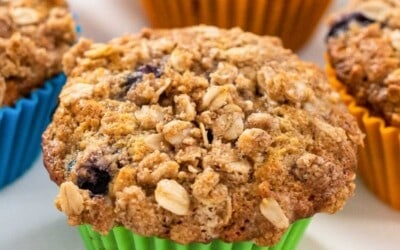 blueberry oatmeal banana muffins.