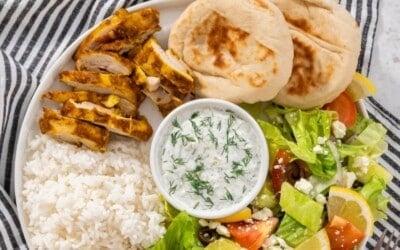 easy 5 minute prep chicken shawarma