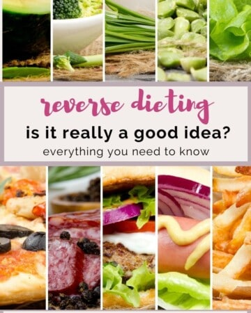is reverse dieting a good idea?