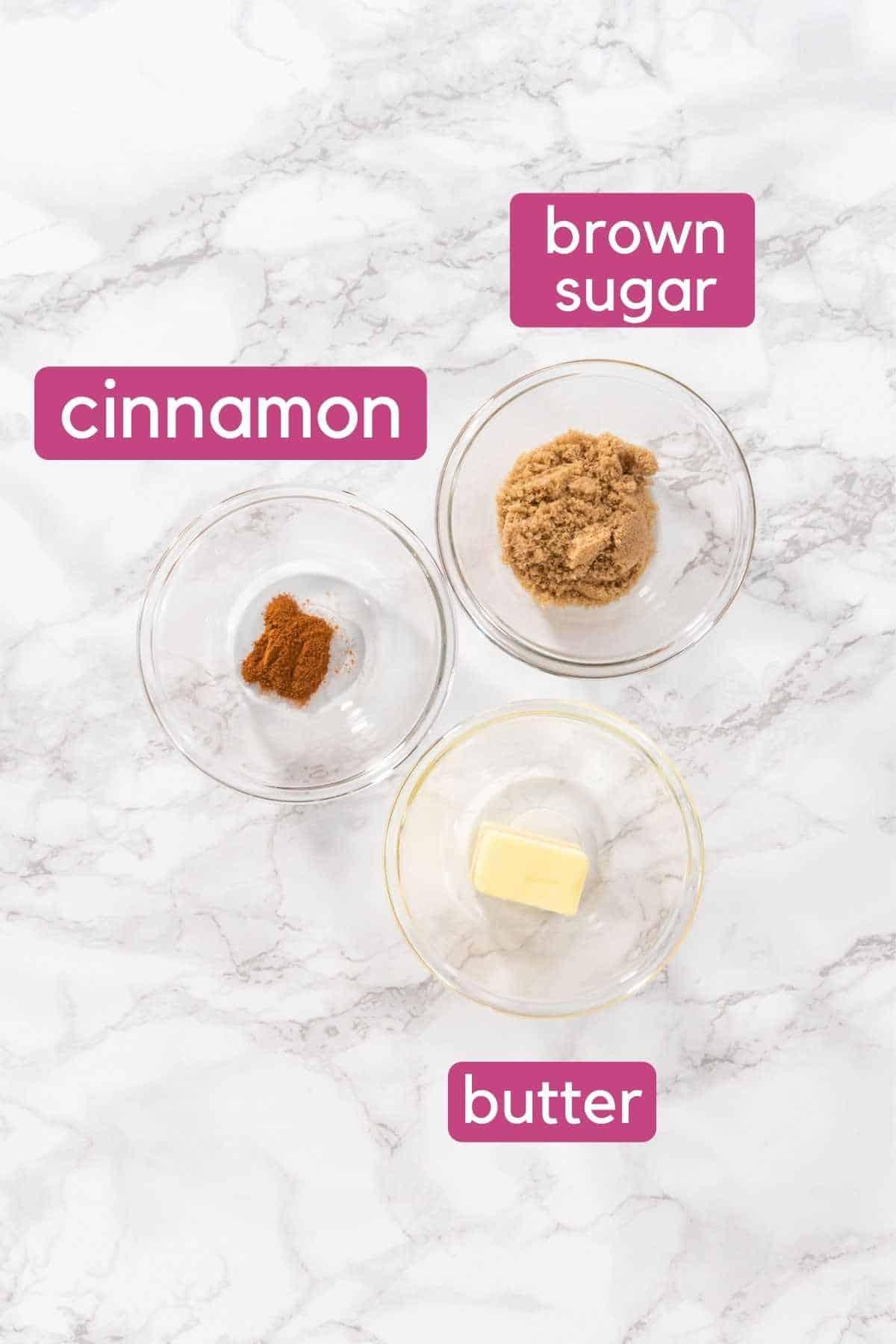 Baked Cinnamon Roll Donut Cinnamon Swirl Ingredients.