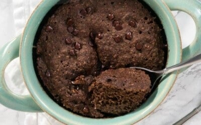 chocolate baked oats in 5 minutes.